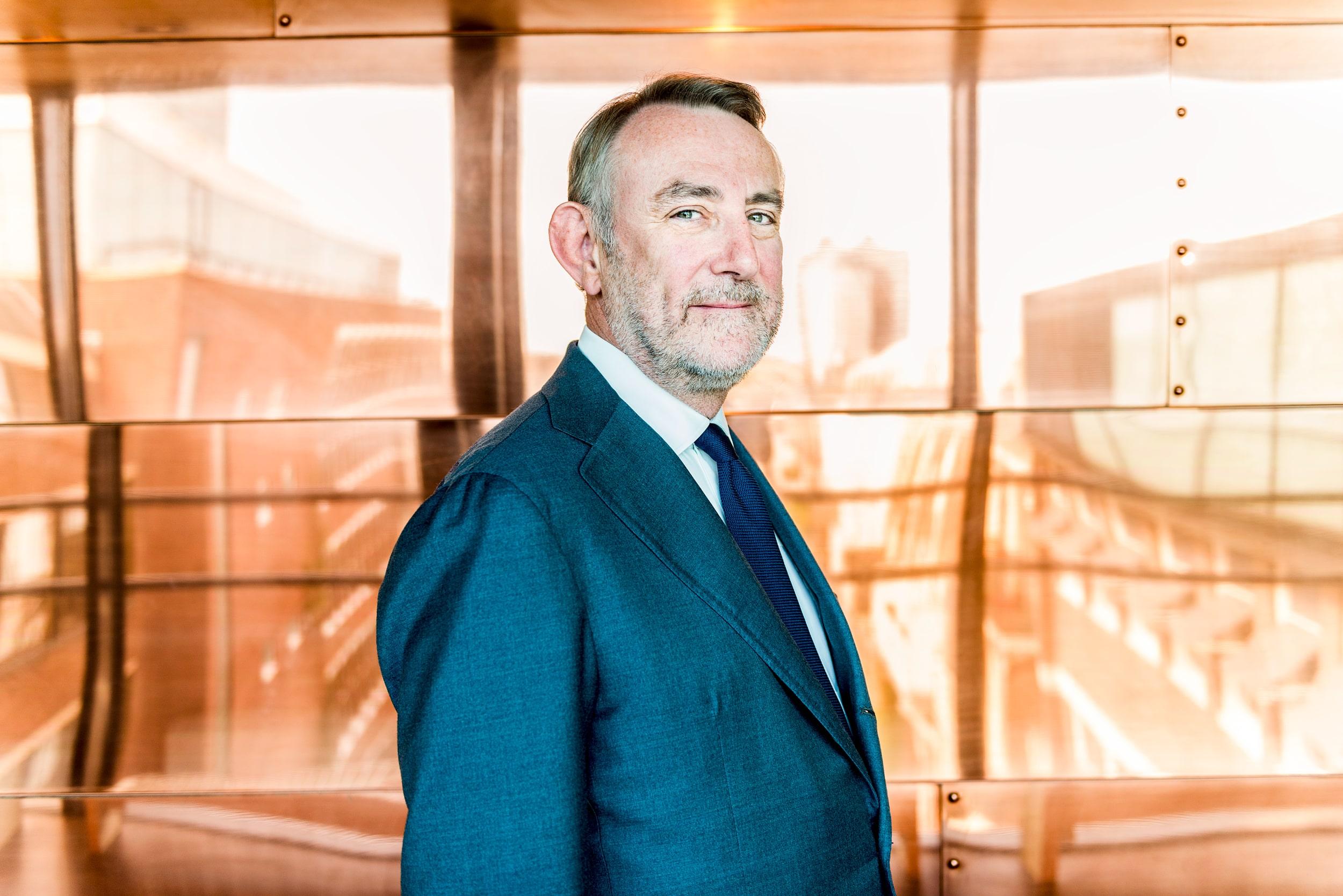 Zakelijk portret van Jean-Francois van Boxmeer, Voormalig CEO van Heineken.