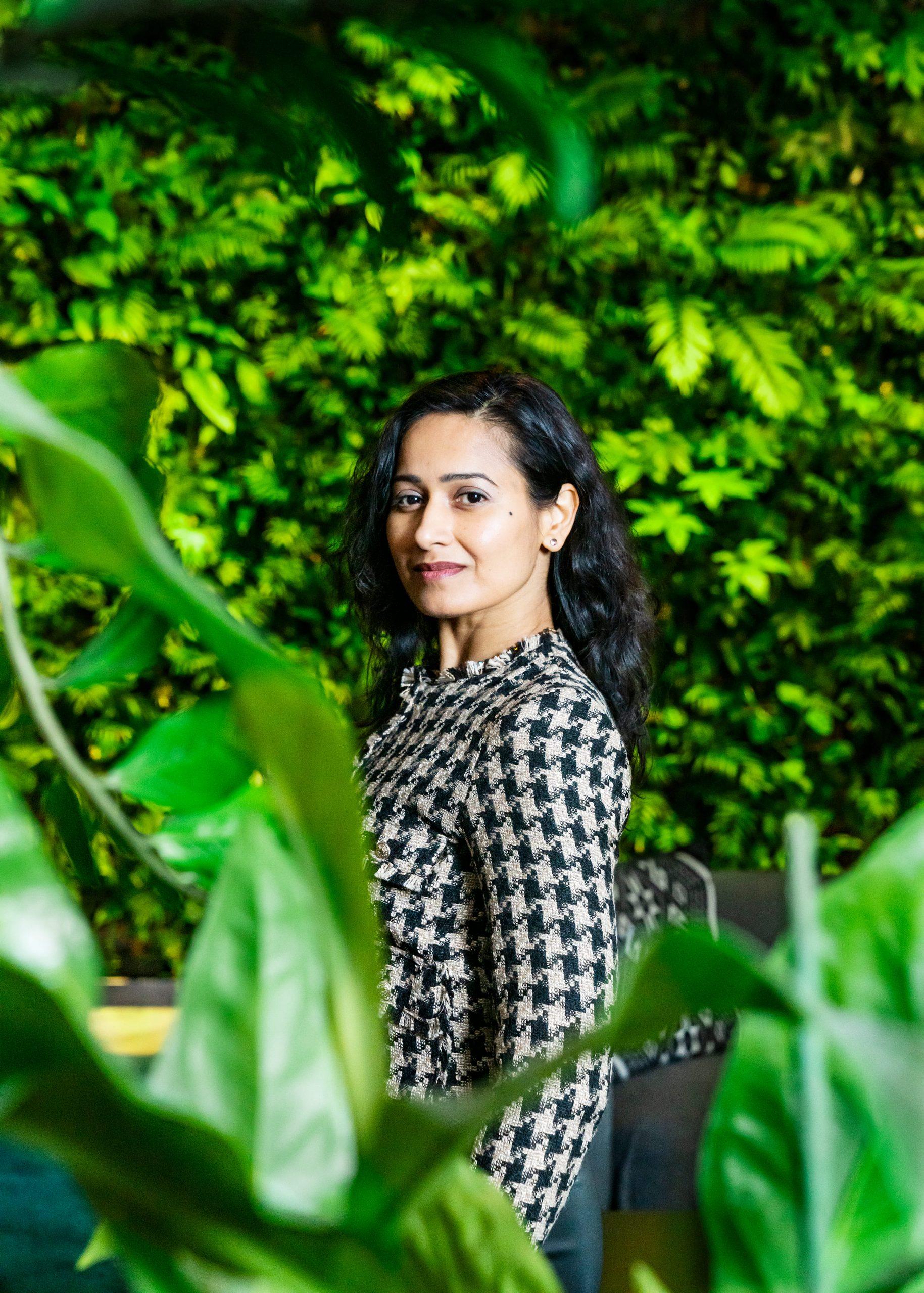 Zakelijk portret Rishma Moennasing manager duurzaamheid investeringen bij Rabobank.