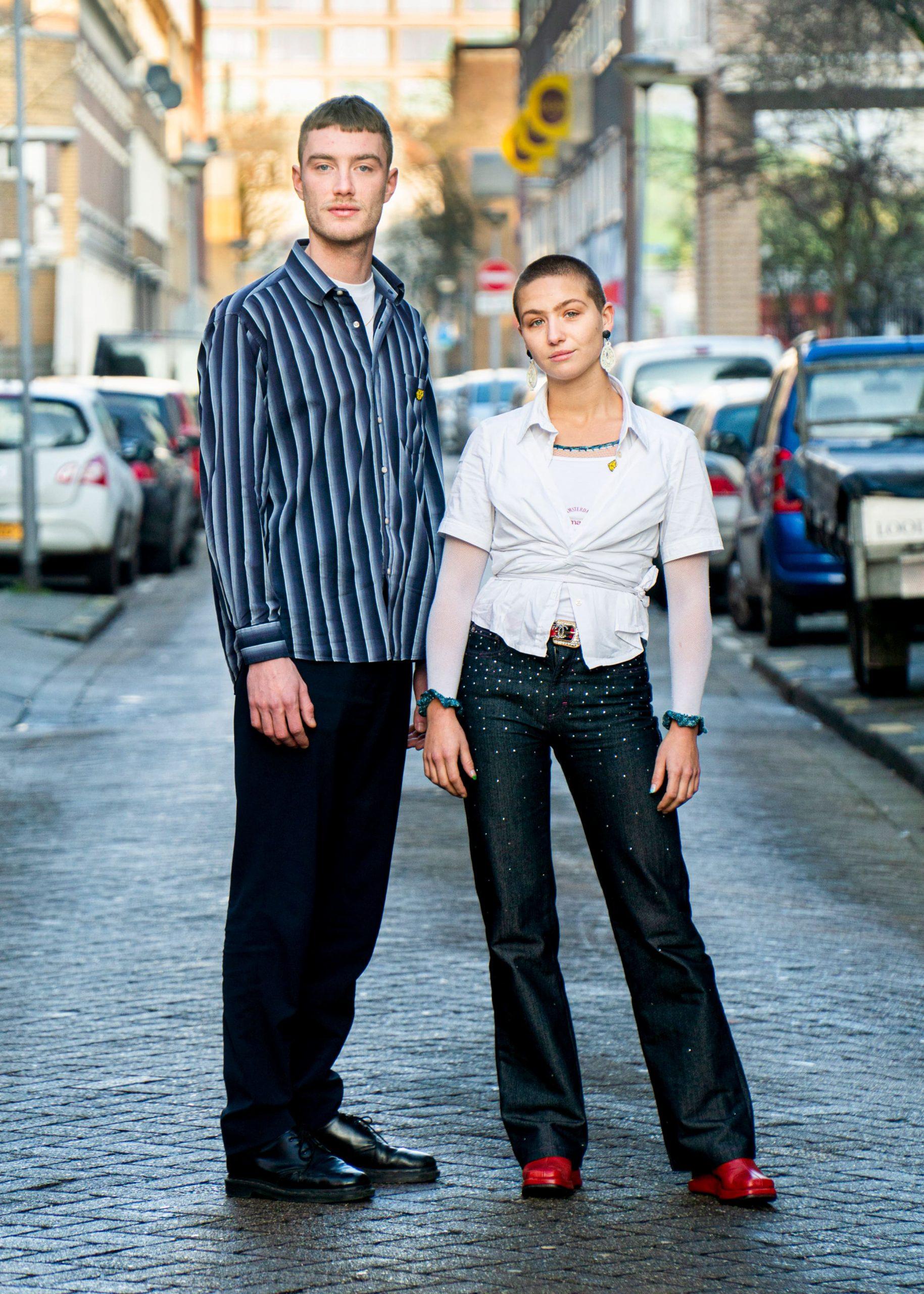 Portret van genomineerde regisseur Vincent Boy Kars en actrice Leyla de muynck.